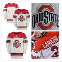 Wholesale Big Ten - Custom Ohio State Buckeyes ice Hockey Jersey Mens White Personalized Nick Schilkey NCAA College Big Ten Stitched Jerseys Adult size S,3XL