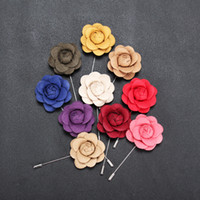 cloth flowers brooch NZ - 2017 Handmade Cloth Rose Pearl Flowers Brooch Lapel Pins Fashion Brooches Pin Women Men Accessories Suit Scarf Party Fine Jewelry H6904