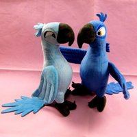 Wholesale Stuffed Parrot Toys - Wholesale- Free shipping Original Rio Parrot Plush Toys 30cm Blu & Jewel Cartoon Soft Children Stuffed Dolls Children Christmas Gift