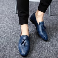Wholesale Office Shoes For Men - 2017 Men Shoes luxury Brand Moccasin Leather Casual Driving Oxfords Shoes Men Loafers Moccasins Italian Shoes for Men size 38-48