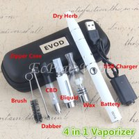 Wholesale Dry Herbs Ago Atomizer - 4in1 Vaporizer kit vape pen included CBD oil cartridge mt3 eliquid globe glass wax ago dry herb atomizers all in 1 starter kits