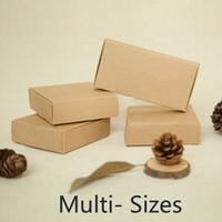 ingrosso marrone invito-Scatola di carta all'ingrosso-Kraft per le scatole di Brown d'imballaggio del CD di caso del telefono della carta del regalo della carta dell'invito di nozze Trasporto libero