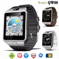 Wholesale Dual 3g Android Phones - QW09 Android 3g Smart Watch Wifi Bluetooth 4.0 MTK6572 Dual Core 512MB RAM 4GB ROM Pedometer 3G Smartwatch Phone High Quality VS DZ09