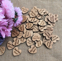 """Wholesale Wooden Christmas Ornaments Wholesale - 300pcs """"Best Day Ever!"""" Letter Wooden Button Beads For Table Ornaments Wedding Decoration Photography Props"""