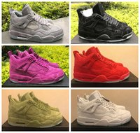 Men original cool - KAWS Air Retro Cool Grey Black Pink Red Green White Mens Basketball Shoes Sneaker s Basket Ball Sports Shoes With Box