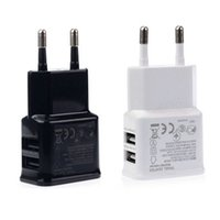 Wholesale Eu Usb Wall Charger Iphone5 - New Universal Dual USB EU plug 5V 2A Wall Travel Power Charger adapter for iPhone5 iPhone6 6S plus HTC SAMSUNG Galaxy S6