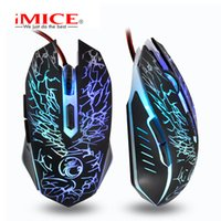 Wholesale Mouse X5 - IMICE dazzle breathing lamp electric unexpectedly the cable game mouse X5 computer to set colorful lights