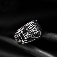 Wholesale Motorcycle Jewelry Rings - stainless steel retro Harley rings, Davidson motorcycle chain silvery Jewelry wholesale