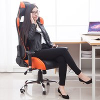 Wholesale Hot Wheels Computer - Fashion Hot Sale Multifunctional Boss Chair Lol WCG Computer Gamin With Bow Wheeled Base Adjusting Armrest