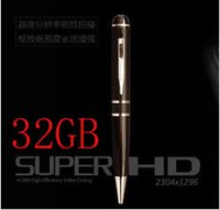Wholesale Hidden Camera Hdmi - 32GB 2K HD 1296P h.264 Motion Detetction HDMI Port Memory Ball Pen Spy Camera Hidden Camera,1080p pen spy camera