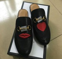c3262913f 2017 Luxury Brand Genuine Leather Women Slippers Embroidery Flower Flat  Shoes Spring Summer Fashion Slides European Designer Loafers X613