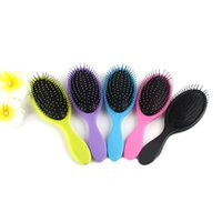 Wholesale Massage Combs - Newest Hair Brush Detangler Hair Massage Comb Airbags Combs For Dry & Wet Hair Shower Brush WITH LOGO Best Gift 3006018