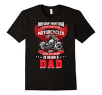 Wholesale Short Sleeve Shirt Office - Sale 100% Cotton T Shirt Motorcycle Rider Being A Dad Tshirt Father Motorbike Grandpa Short O-Neck Office Tee For Men