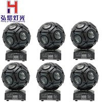 All'ingrosso- 6pcs / lot 9x10w Cree RGBW 4IN1 LED Beam Football Moving Head luce DMX512 attrezzature professionali per DJ