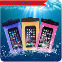 Wholesale Wholesale Lanyards Plastic Pouch - Waterproof Bag Case PVC Protective Mobile Phone Bag Pouch for iphone 6s Plus Samsung S7 Edge Cellphone Water Proof Dry Bags with Lanyard
