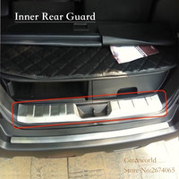 Wholesale Protector Bumper Car - For Nissan X-Trail T31 Rear Bumper tail Door Sill Tailgate Cover trim Protector X Trail 2008 to 2013 Stainless Steel Car-styling Accessories