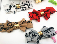 Wholesale Europe Headbands - Letters with Europe and the United States children bow hair ribbon hair with hair of a newborn children with euramerican popularity