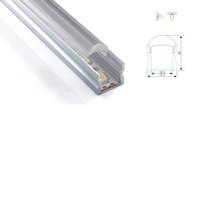 ingrosso lenti a soffitto-100 insiemi X 1M lotto lineare profilo / alluminio LED e 60 gradi canale U con lente per soffitti o luci da incasso a parete