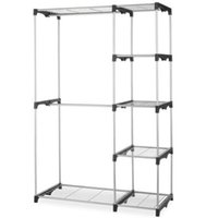 Wholesale Trouser Racks - Closet Organizer Storage Rack Portable Clothes Hanger Home Garment Shelf Rod