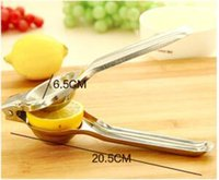 Acero inoxidable Lemon Squeezer Handy Lemon Juicer manual Orange Squeezers Anti-corrosivo Squeeze a mano Jugo de cocina Juicers Herramientas