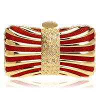 Wholesale Mix Color Handbag Shoulder Bag - Chain Shoulder Day Clutches Evening Bags Diamonds Tin Mixed Color Black Red Silver Blue Gold Evening Bag For Wedding Handbags