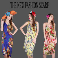 Wholesale Wholesale Tunic Chiffon - Free Shipping HOT New Sexy Chiffon Summer Swimwear Dress Beach Cover Up Pareo Sarongs Bikini Scarf Tunic