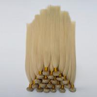 amerikanisches indisches blondes haar großhandel-Brasilianisches malaysisches Menschenhaar gerades 8-30inch 613 # helles Weiß Qualitäts-amerikanische Haarverlängerungen Schönheits-blondes europäisches indisches Haar