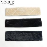 Wholesale Flexible Headbands - Vogue Queen Headband Flexible Velvet Wig Grip Scarf Head Hair Band Adjustable Fastener(1 pc,Black)