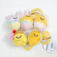 Wholesale Funny Cartoon Videos - Cute Gudetama Lazy Eggs Funny Rabbit Cosplay Yolk Bros Pendant Stuffed Dolls Kids Gifts 8cm Cartoon Plush Toys Soft Stuffed Dolls