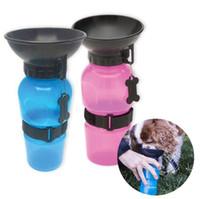Wholesale Wholesale Plastic Travel Mugs - Useful Auto Dog Mug Puppy Travel Walking Hiking Water Bottle Dispenser Feeder Dog Cat Drinking Bottle LJJK715