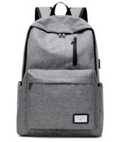 школьные рюкзаки оптовых-Мужская повседневная 2017 рюкзак нейлон подросток школьная сумка Tech рюкзак женщины рюкзак Рюкзак для ноутбука сумка с USB порт зарядки B093