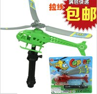 helicóptero giro grande rc al por mayor-Tire de la línea de la mosca de la línea de tiro juguetes UFO juguetes creativos al por mayor escuela de 1 yuan alrededor de los amigos al por mayor y regalos de familiares pequeños regalos