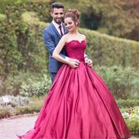 Wholesale Cheap Light Up Shirts - Vestido Longo Formatura 2017 Cheap Prom Dresses Off Shoulder Burgundy Satin Ball Gown Evening Dresses Floor Length Gowns