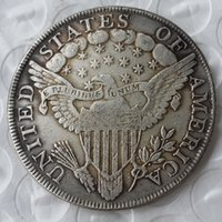 Wholesale Antique Plates Set - United States Coins a set of(1799-1804) 7pcs Draped Bust Brass Silver Plated Dollar Copy Coin
