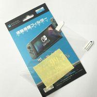 volle konsole großhandel-Anti Scratch Ultra Clear Displayschutzfolie Schutzfolie für Switch NS Console Full HD PET Haut Hochwertiges Reinigungstuch