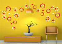 Wholesale Indoor Green Wall - 1 Set Indoor Room Decoration Circle Removable 3D Art Wall Sticker Round Home DIY,1 Set 5