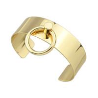 Wholesale Wide Bangle Cuff - New Fashion Design Gold Plated Wide Big Cuff Bangle Bracelets for Women