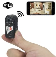 Wholesale Iphone Detection - Mini P2P WiFi IP Camera HD DVR Mini Camera Video Recorder Indoor   Outdoor Motion Detection Security Support iPhone Android Q7
