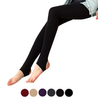 Wholesale Stovepipe Leggings - Feitong Velvet stovepipe pants pressure plus thick velvet winter thick section Fat Burning warm leggings Winter Women Pants