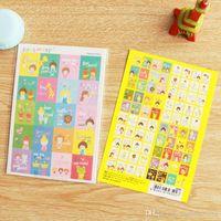Wholesale gift sets decals resale online - 1 sets New photo album Scrapbook decoration Cute cartoon stamp stickers DIY Handmade Gift Card Scrapbooking