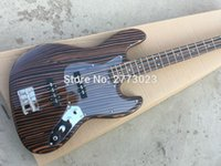 Wholesale Zebra wood four string bass wood color large inventories of EMS delivery Can be produced in accordance with the requirements