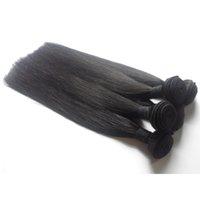 ingrosso 7a capelli indiani mongoli-7A grado brasiliano malese peruviano mongolo cambogiano indiano non trasformati vergini diritti dei capelli umani fasci tessuto dei capelli 3 4 5 pz lotto