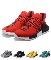 Wholesale Factory Family - Colorful Real Boost Factory Pharrell Williams NMD HUMAN RACE Black,Orange,Red,Green,Blue,Yellow,Friends and Family Men Running Shoes
