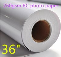 "Wholesale Pigment Inkjet Ink - 36""*30m RC Inkjet Photo Paper Roll for Pigment and Dye inks"