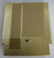 Wholesale console metal - Golden Color Metal Plating 72 Pins Game Cartridge Replacement Plastic Shell For NES Console