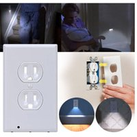 Wholesale LED Wall Outlet night light Plug Cover LED Night Angel Wall Outlet Face Hallway Bathroom Light