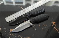 Wholesale Good Tactic - Free Shipping 2017 new goods field survival high-end black dragon V D2 steel small straight knife camping outdoor tool tactics straight high