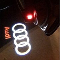 Wholesale Q5 Audi - 21X car laser projector Logo Ghost Shadow Light For AUDI A1 A3 A4 B A6 C5 80 A7 Q3 Q5 Q7 TT Sline C6 B5 B7