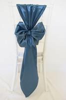 Wholesale Orange Chair Sash Bow Cover - Custom Made 2017 Taffeta 3D Bow Chair Covers Vintage Romantic Chair Sashes Beautiful Fashion Wedding Decorations 02