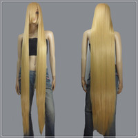 Wholesale Extra Long Blonde Cosplay Wig - 150cm Beige Blonde Styleable Extra Super Long Cosplay Wigs